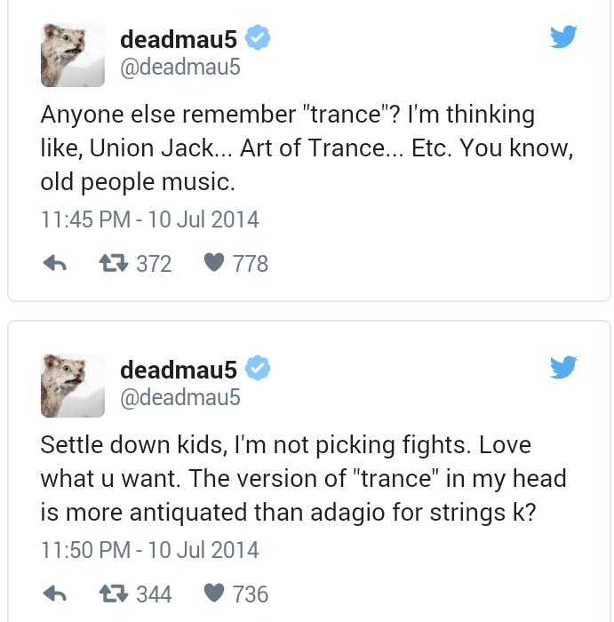 twitter DeadMau5 e Armim van Buuren 1