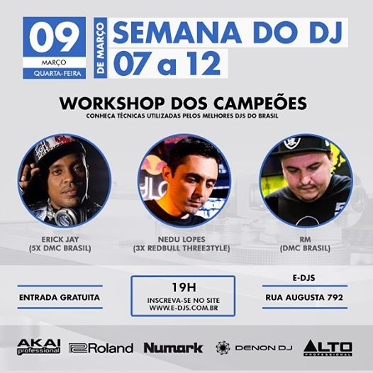 E-DJs Programação