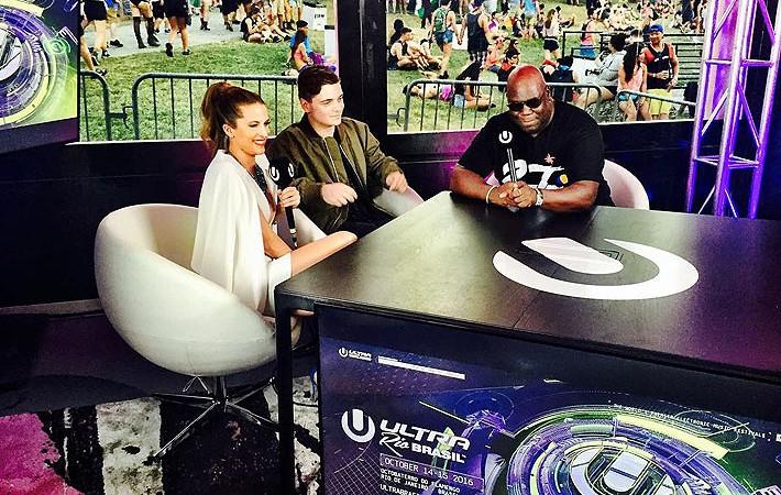 Ultra Music Festival Miami 2016 anunciando Martin Garrix e Carl Cox para ULTRA Rio Brasil