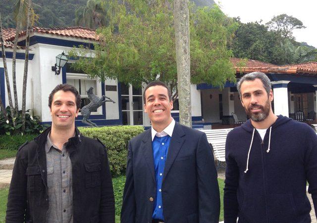 Flavio, Helinho e Luly do Cafe De La Musique por Joca Vidal
