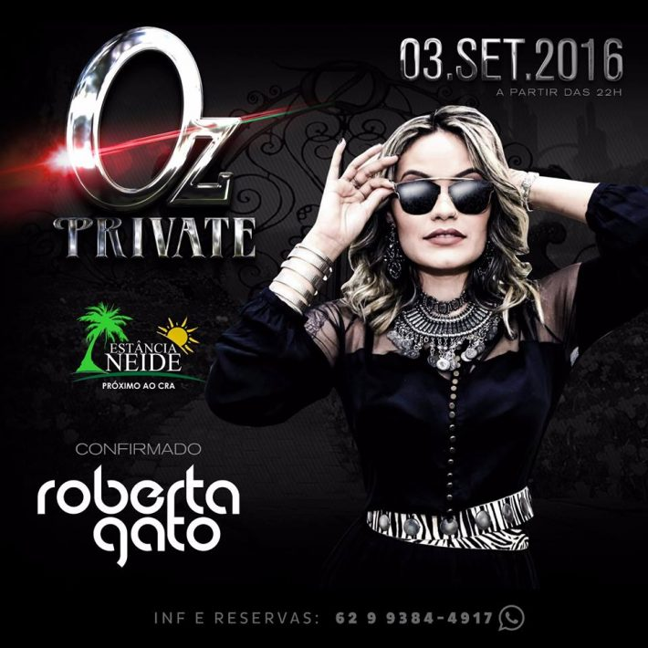 Roberta Gato DJ na Oz