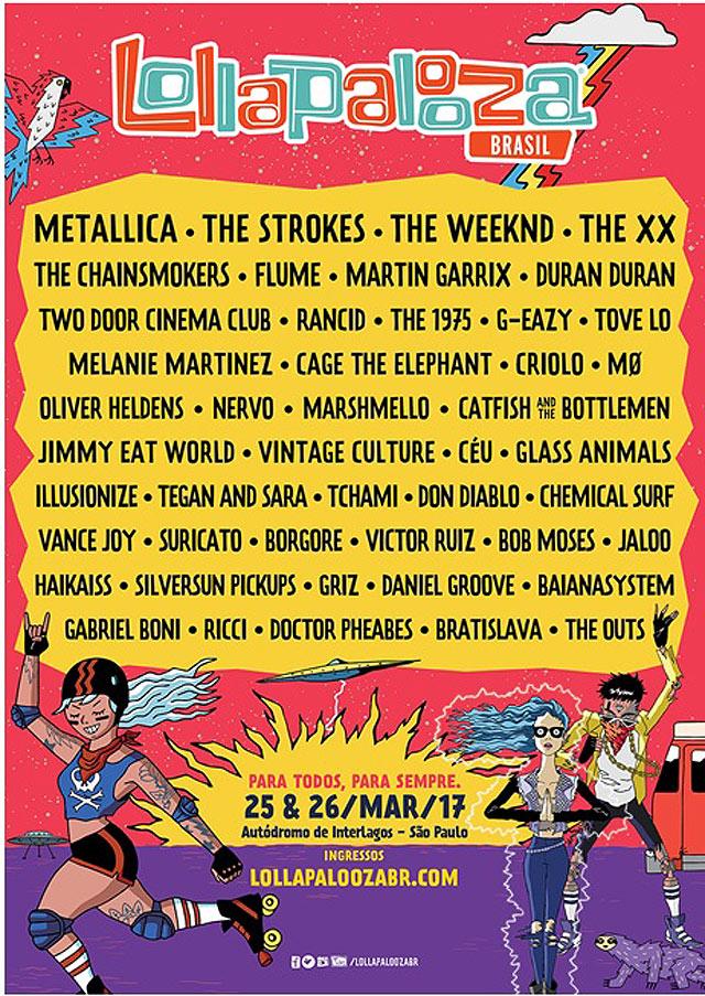 Line Up final Lollapalooza 2017
